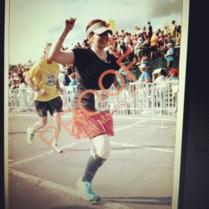 yep, I'm an arm-lifter at finish lines!